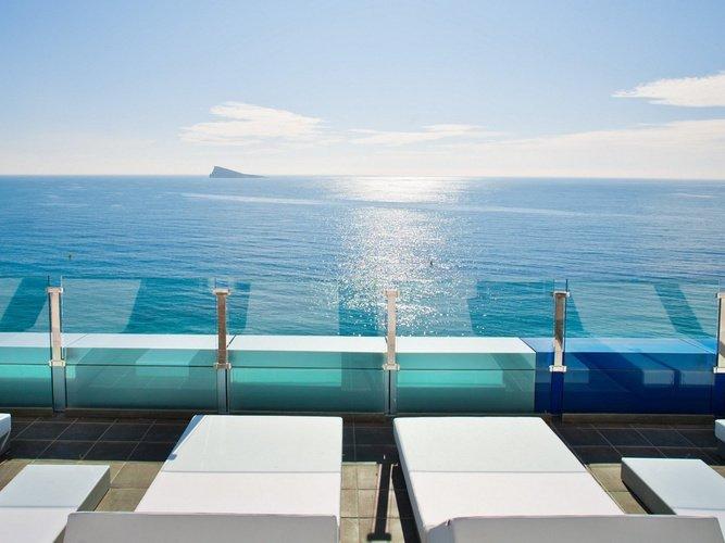 Terrace villa del mar hotel benidorm
